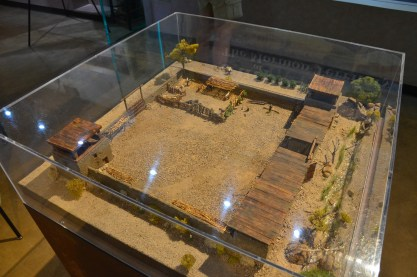 Scale model of the original fort at Old Las Vegas Mormon Fort State Historic Park in Nevada