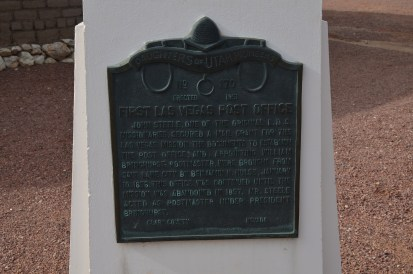 Post Office plaque at Old Las Vegas Mormon Fort State Historic Park in Nevada