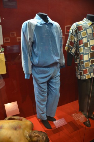 Costumes from Goodfellas at the Mob Museum in Las Vegas, Nevada