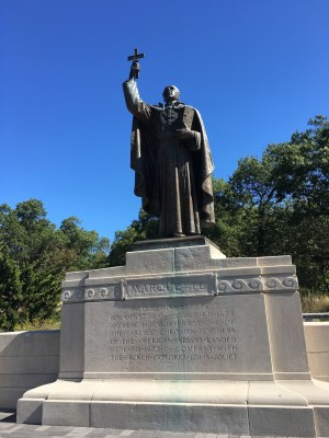 Fr. Jacques Marquette statue at Marquette Park, Miller Beach, Gary, Indiana