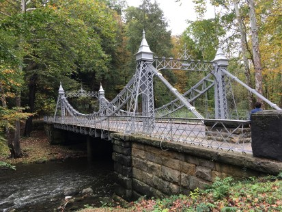 Suspension Bridge at Mill Creek Park in Youngstown, Ohio