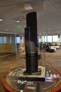 Model of the building at Columbia Center in Seattle, Washington