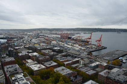 Docks from the Smith Tower in Seattle, Washington