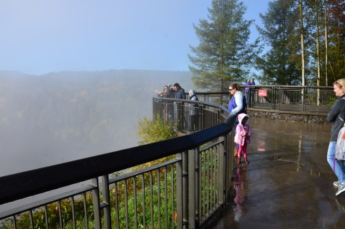 Upper observation deck at Snoqualmie Falls in Washington