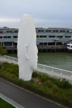 Echo byJaume Plensa at Olympic Sculpture Park in Seattle, Washington