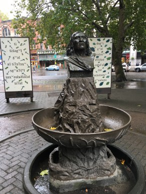 Bust of Chief Seattle in Pioneer Square in Seattle, Washington