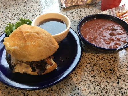 Sandwich and chili at Toga's Soup House in Port Angeles, Washington