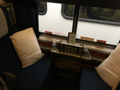 Our cabin on the Amtrak Empire Builder from Seattle to Chicago