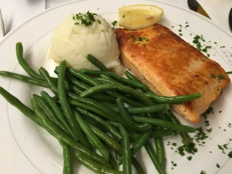Salmon on the Amtrak Empire Builder from Seattle to Chicago