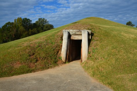 Earth Lodge at Ocmulgee National Monument in Macon, Georgia