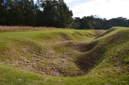 Trench at Ocmulgee National Monument in Macon, Georgia