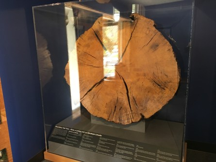 Boundary Oak at the visitor center at Abraham Lincoln Birthplace National Historical Park in Kentucky