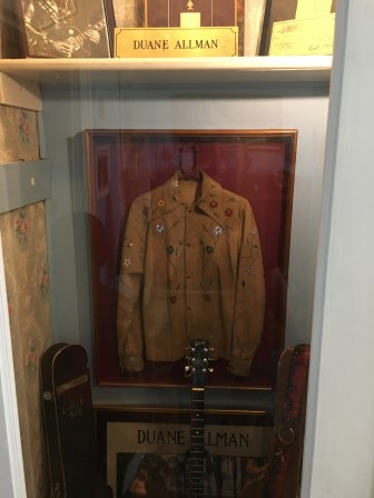 Duane Allman's jacket and guitar at The Big House Museum in Macon, Georgia