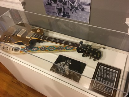 Dickey Betts' guitar at The Big House Museum in Macon, Georgia