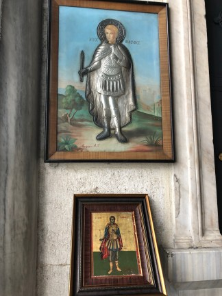 Icons in the narthex
