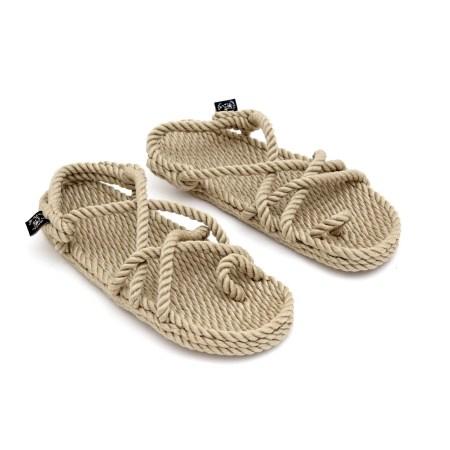 Sandales en corde beige, sandales en corde recyclee, sandales vegan