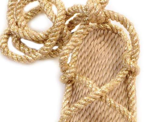 nomadic state of mind sandals, Romano Solid Gold model, rope sandal