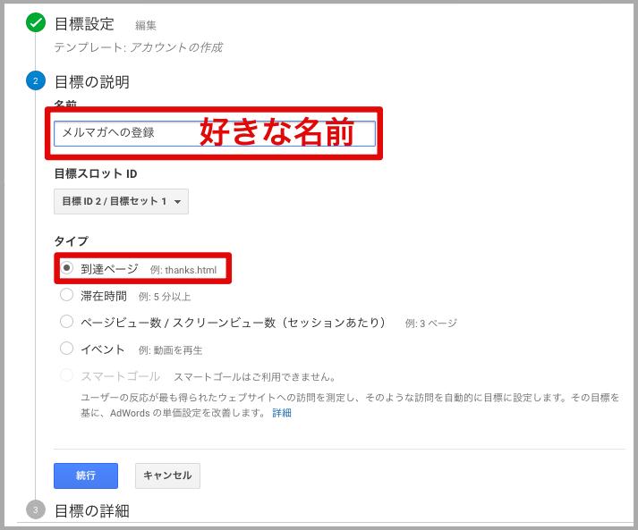メルマガ Googleアナリティクス コンバージョン率