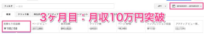 月収10万円 AdSense