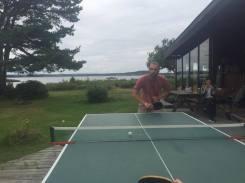 Henrik's table tennis dance.