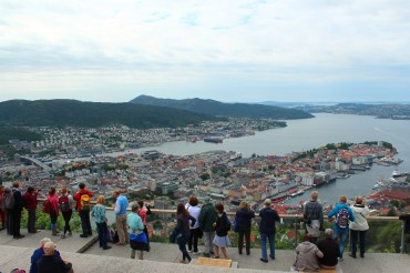 A typical view on Fløyen