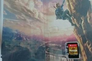 ゼルダの伝説、山を登っている絵。