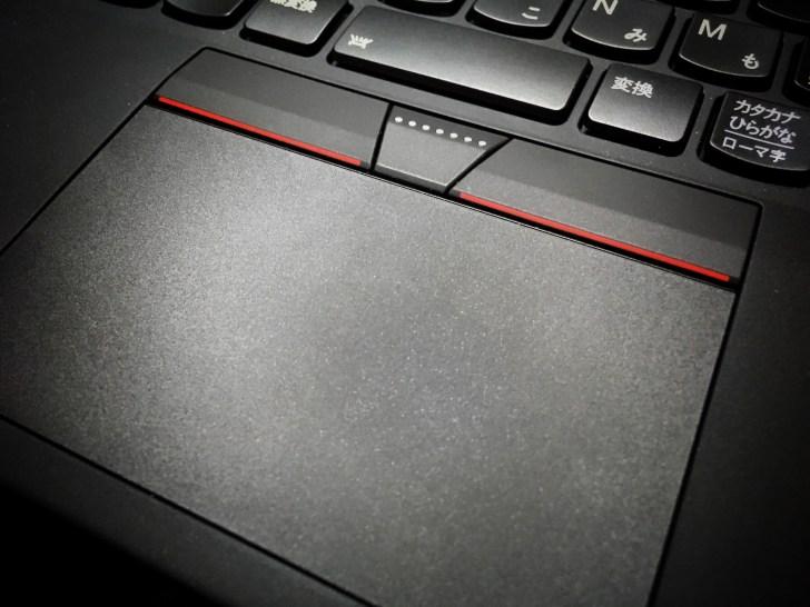 ThinkPad X1 carbon 2017のトラックパッド