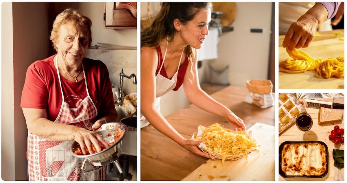 expériences Airbnb en famille Italie cours de cuisine en famille pâtes fraîches