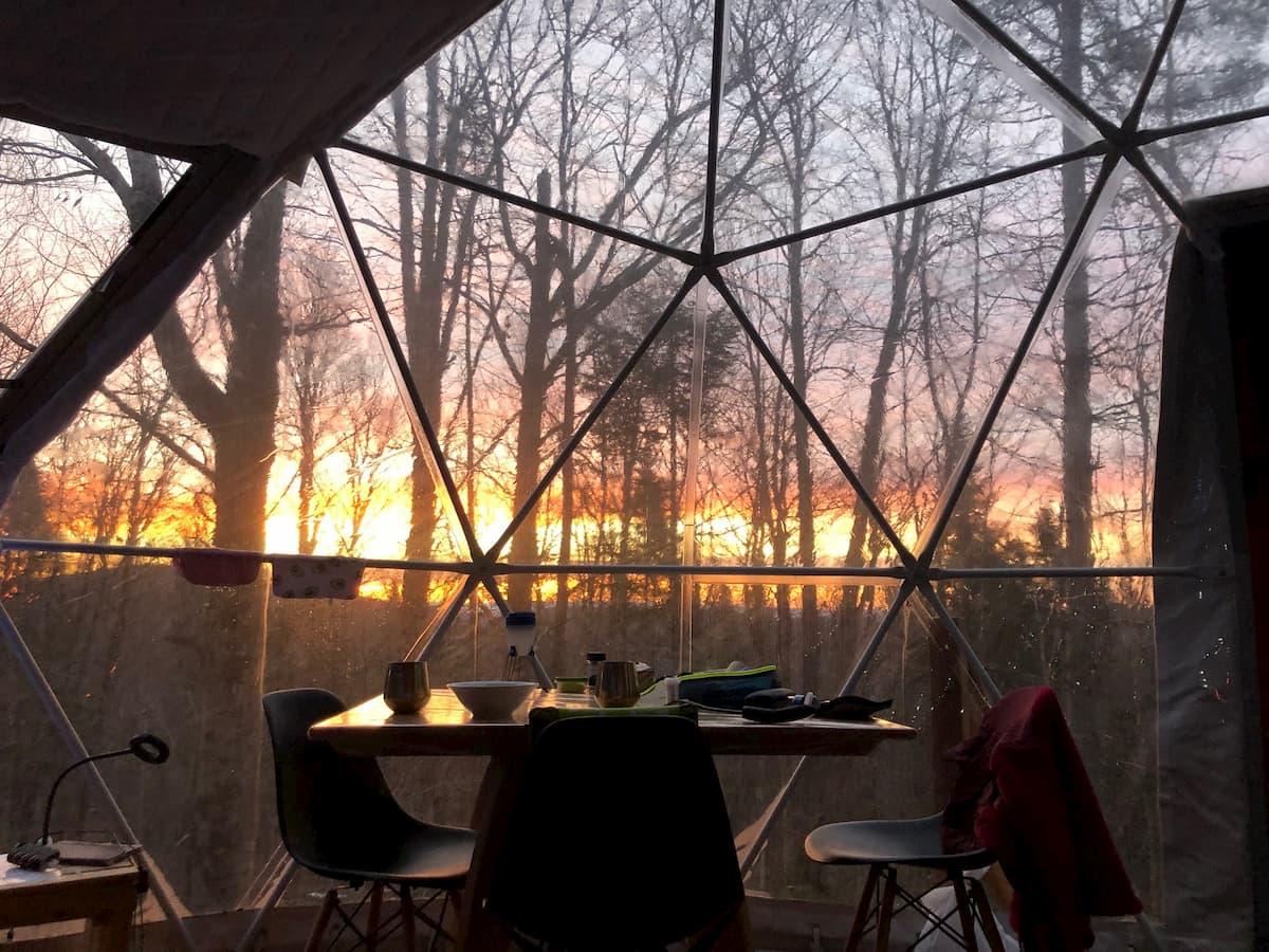 lever soleil dôme automne
