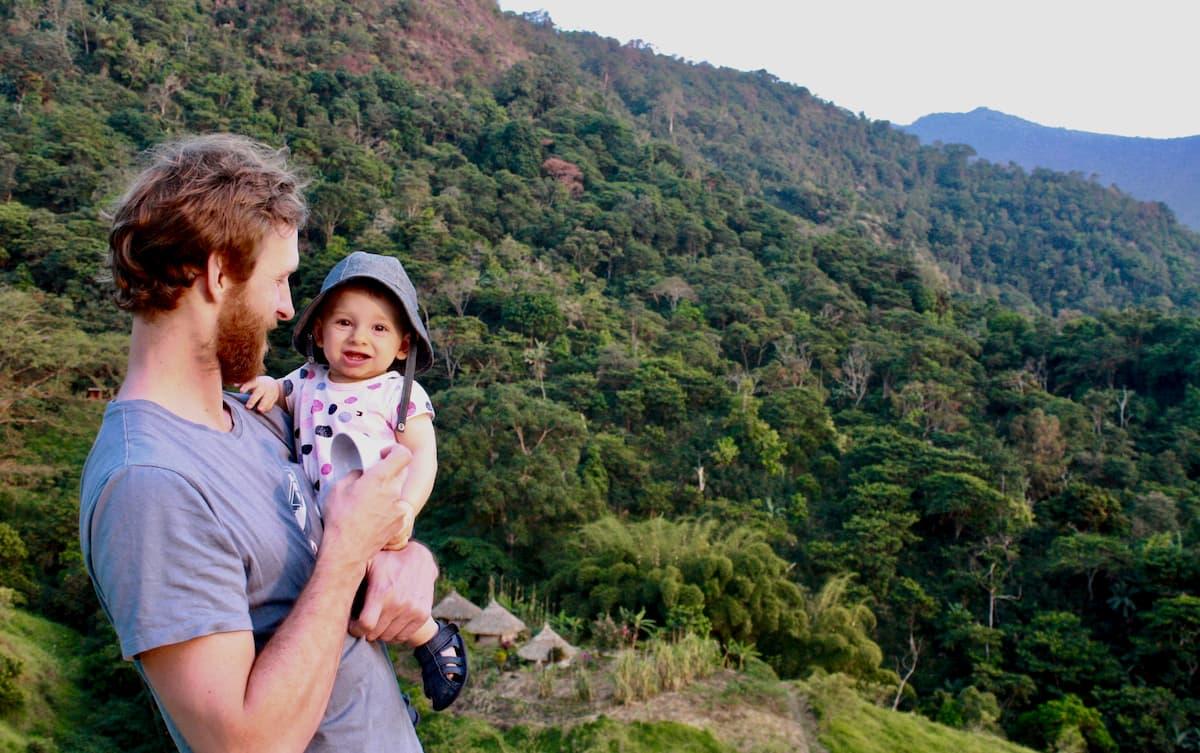 papa bébé montagne Colombie