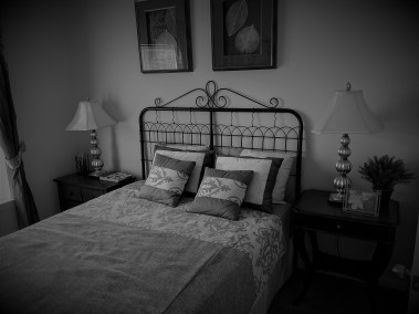 spare bed and night stands