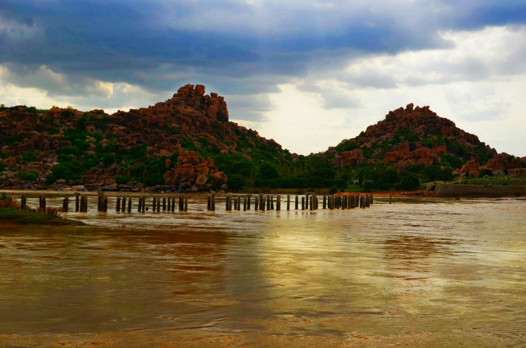 Old Bridge...Thungabadra River...Some people say this is where the Enemy army got an entry inside HAMPI..
