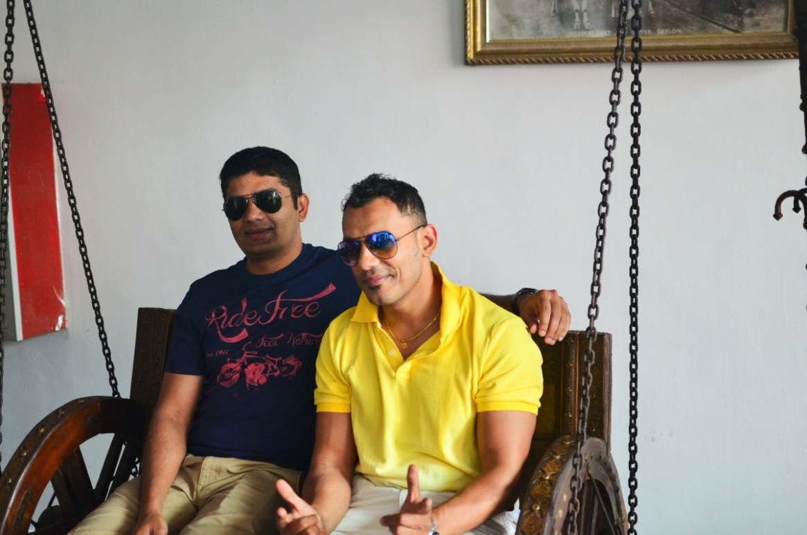 Ajay & Bobby Relaxing at the Resort Reception