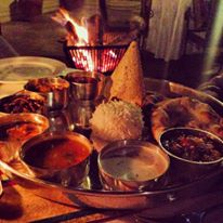 indian food and fire