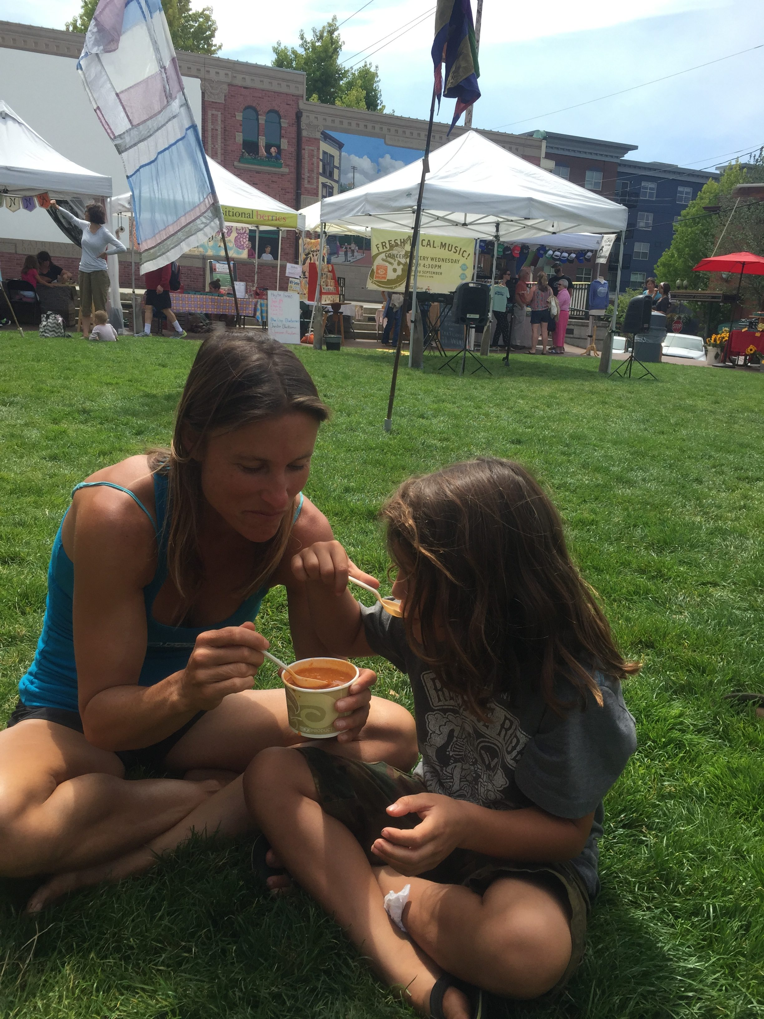 Superior Soups at the Bellingham farmers market in Washington road trip to national parks