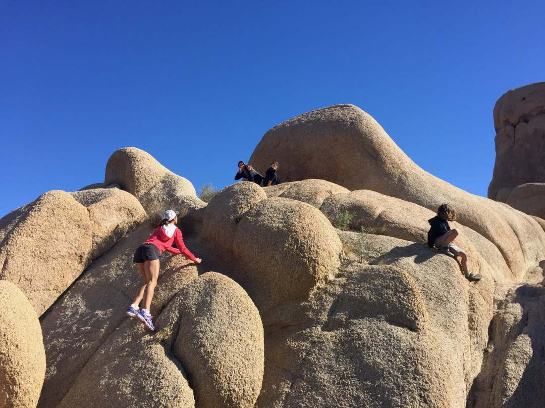 Scrambling in Joshua Tree
