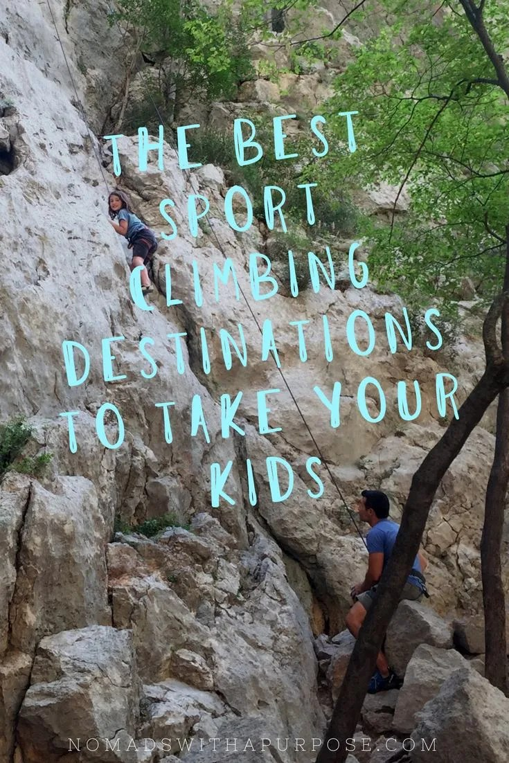 Best Sport Climbing Destinations to take Kids Pinterest Image