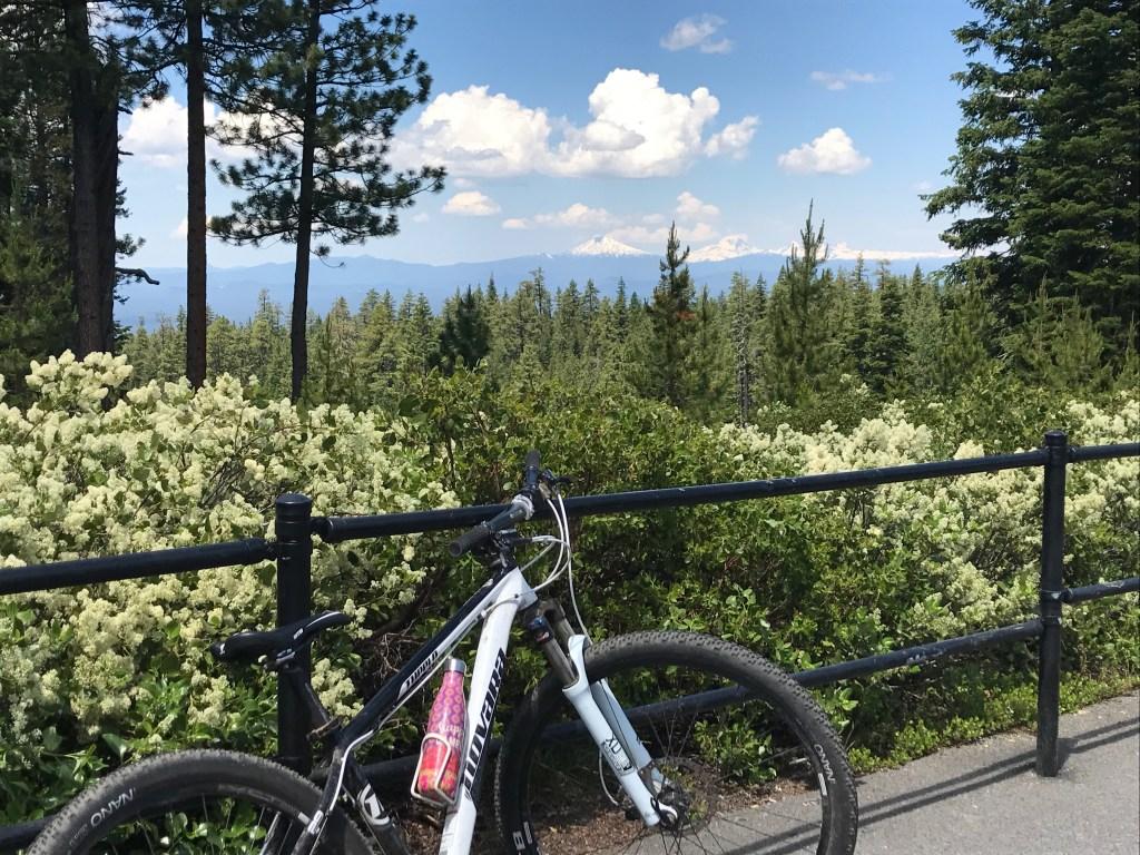 Mountain biking on our summer adventure road trip
