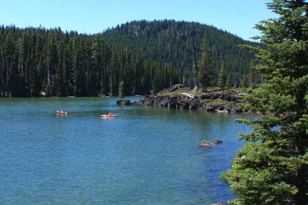 sparks lake kayaking summer adventure road trip