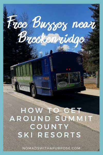 Getting Around Breckenridge: How to use the free bus system