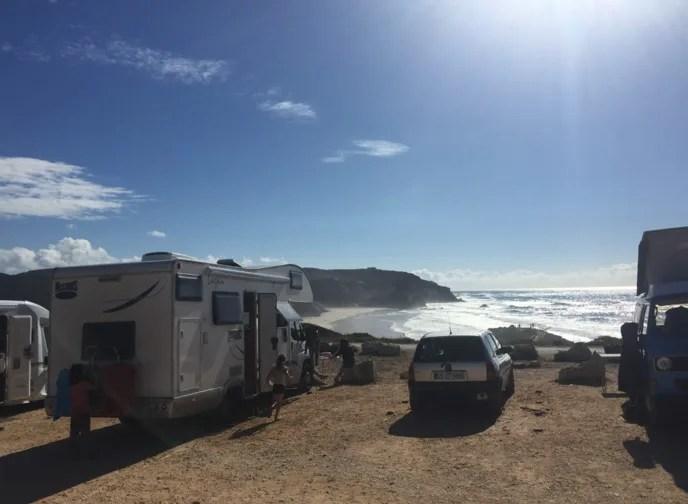 Free Camping Portugal Praia Amado