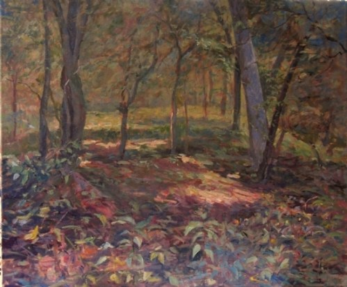 """In the Woods at Gambrill Mill"" (20x24) oil onlinen"