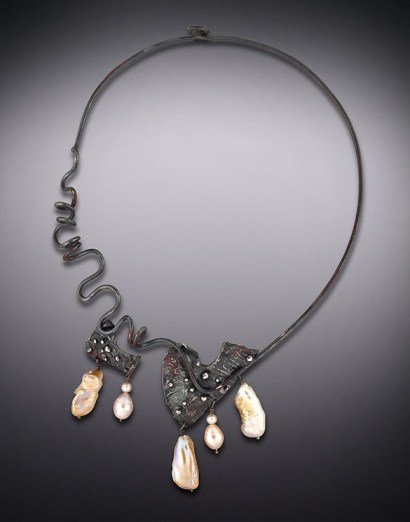 Blackened Savannah Circlet with Baroque Pearls