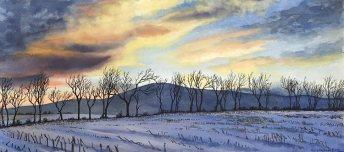 Winter Treeline On Old Hagerstown Road, Maryland