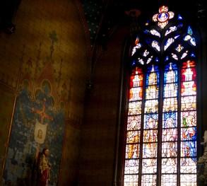 Side chapel window