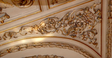 Gold leaf ceiling