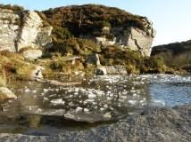 Haytor quarry icebergs