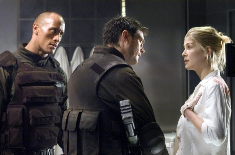 Doom Movie Dwayne Johnson Karl Urban Rosamund Pike