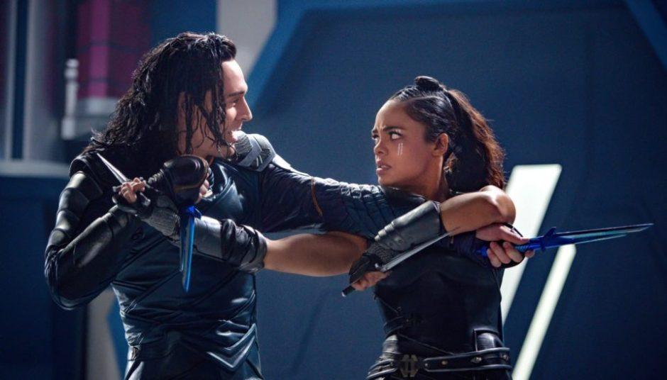 Tom Hiddleston and Tessa Thompson in Thor: Ragnarok