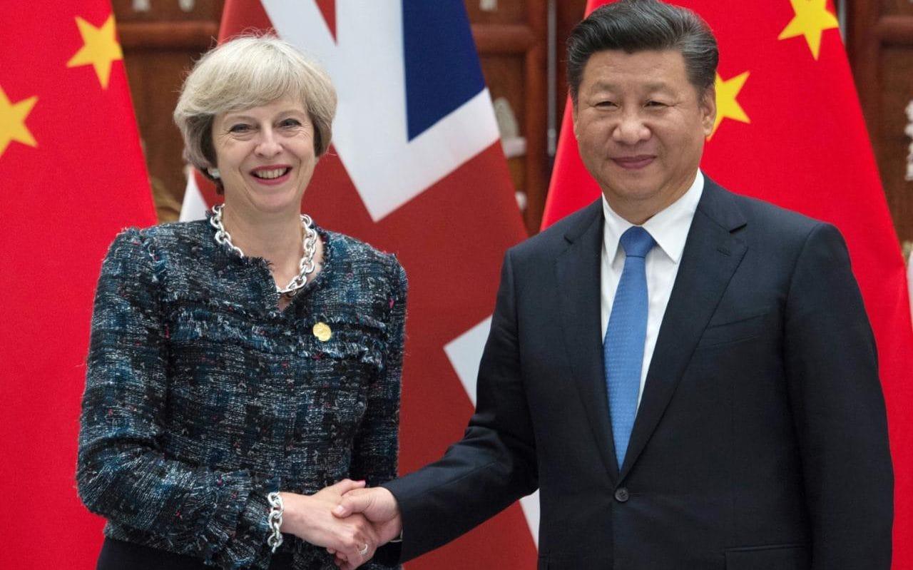 Theresa May Xi Jinping China